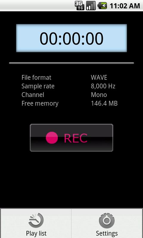 PCM Recorder Lite - screenshot