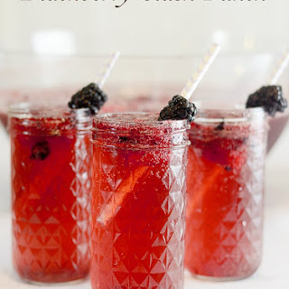 Blackberry Slush Punch and Easy Mason Jar Candle Centerpiece
