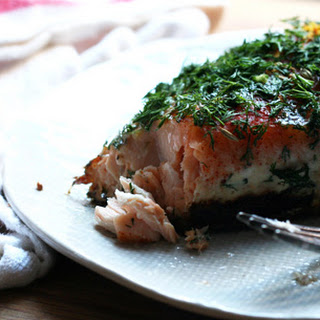 Slow-Cooked Salmon.