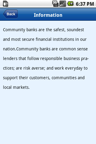 Community Bank Locator - screenshot