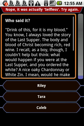 Buffy - QuoteTrivia - screenshot