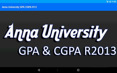 Anna University GPA CGPA - screenshot thumbnail