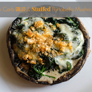 Grilled Portabella Mushroom Stuffed with Creamed Spinach Keto