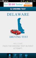 Screenshot of Delaware Driving Test