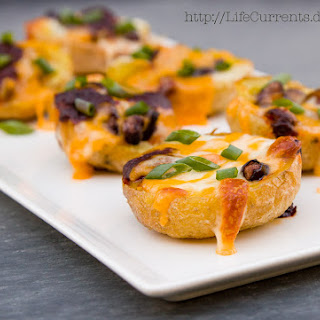 Baked Mexican Potato Skins.
