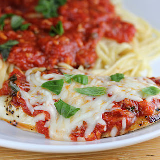 Grilled Chicken Parmesan.