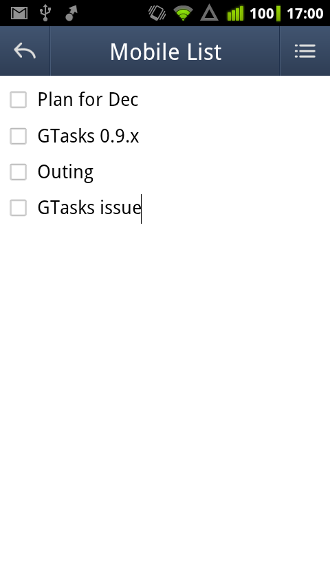 GTasks Key For Premium Feature - screenshot