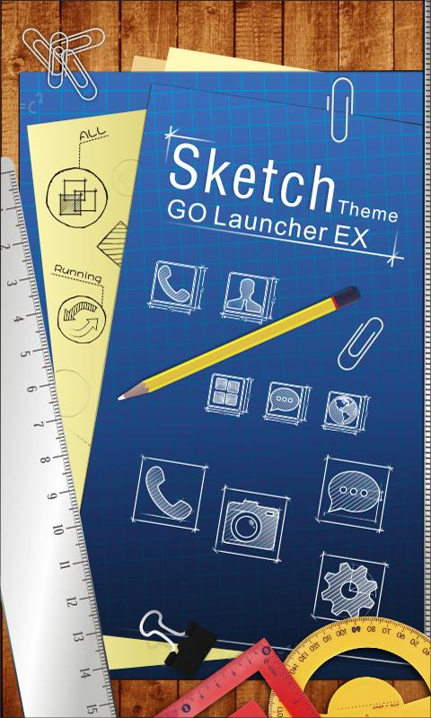 Sketch - GO Launcher Theme - screenshot