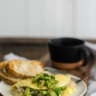 Barley and Asparagus Omelette