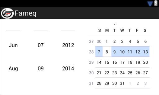 Calendário Fameq