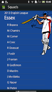 HWC English County Cricket - screenshot thumbnail