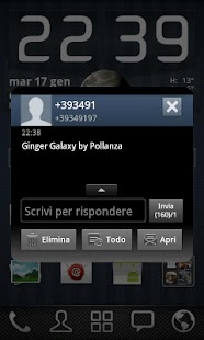 GO SMS Theme Ginger Galaxy - screenshot thumbnail