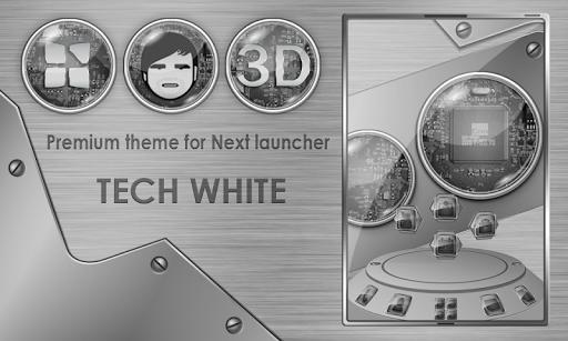 Next launcher theme TechWhite
