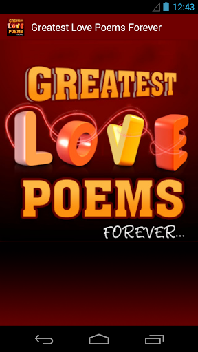 Greatest Love Poems Forever