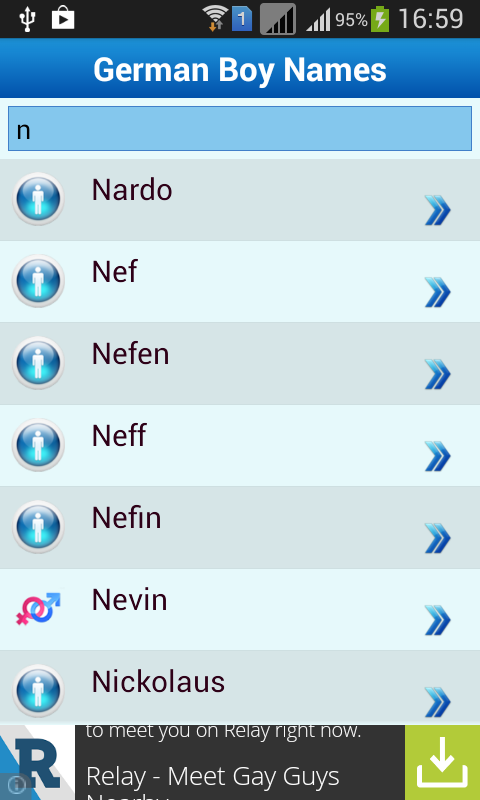German Baby Names Meaning Screenshot