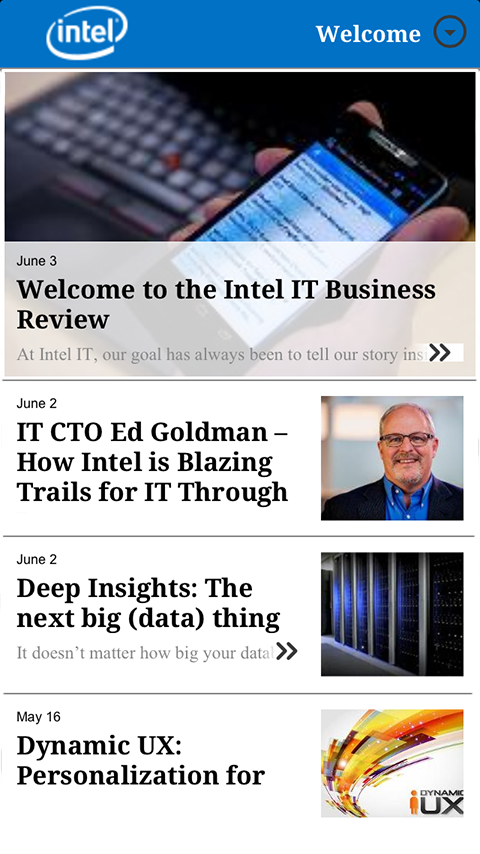 Intel® IT Business Review - screenshot