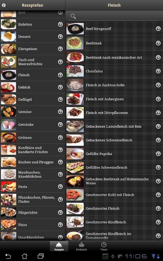 Rezeptefan - screenshot