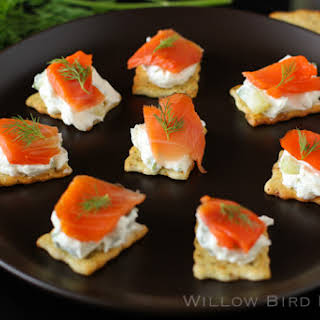 Salmon Canapes Appetizer Recipes.