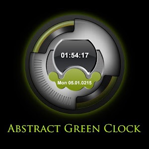 Abstract Green Clock LWP