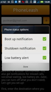 PhoneLeash: SMS/MMS forwarding - screenshot thumbnail