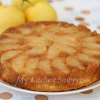 Asian Pear Upside Down Cake.