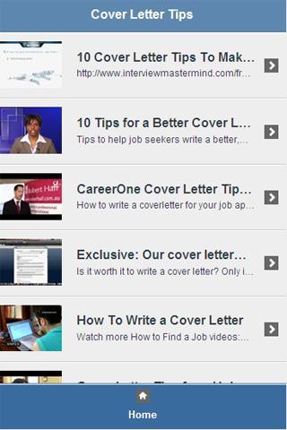 Cover Letter Tips Video