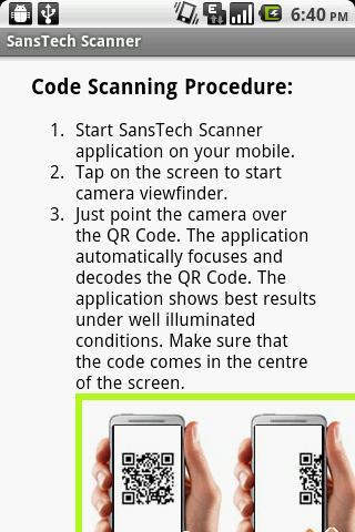 SansTech Scanner - screenshot