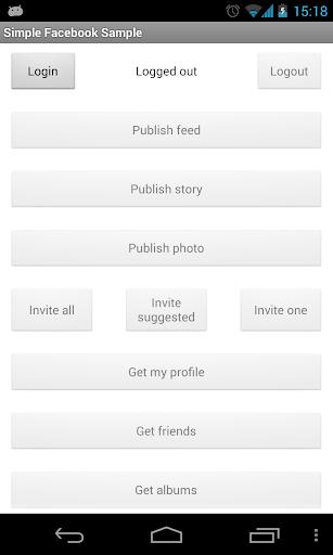 Simple Facebook SDK Sample