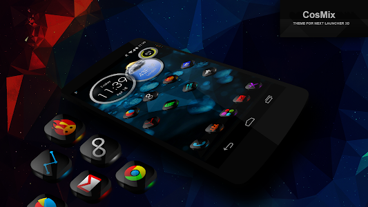 Next Launcher Theme CosMix 3D v1.3