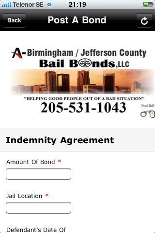 Bail Bonds- screenshot