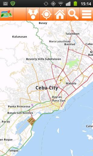 Cebu Offline mappa Map