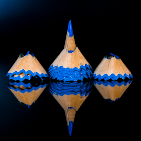 by Asher Jr Salvan - Artistic Objects Other Objects ( , blue, pencil, object )