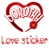 Love Heart Sticker Dorothy