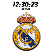 Real Madrid Digital Clock