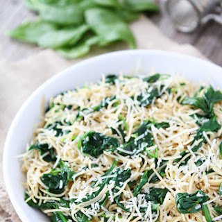 5-Ingredient Spinach Parmesan Pasta