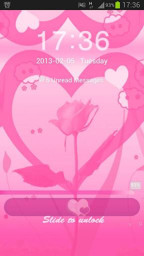ロッカーのテーマピンクのバレンタインGO Locker