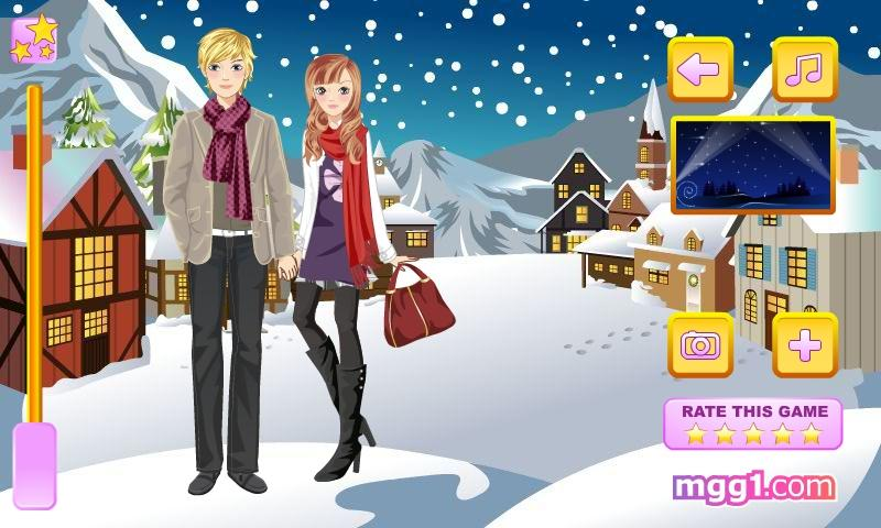 Winter Romance Dress Up - screenshot