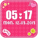Pink Clock Widget icon