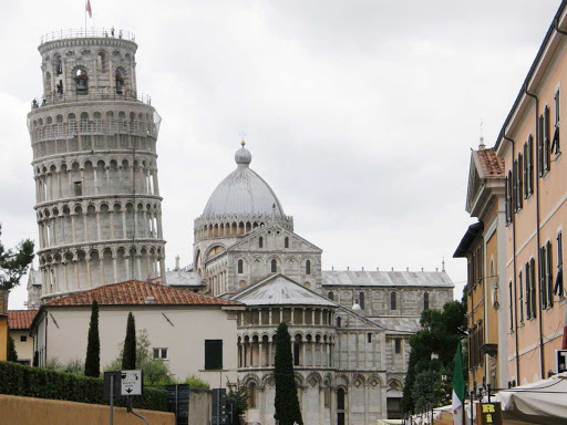 tower-pisa-italy - Built in the 1300s, the famed Tower of Pisa in Italy reaches 184 feet at its zenith.