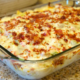 Chicken Bacon Ranch Pizza Casserole