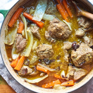 Lamb Tagine with Carrots and Fennel.