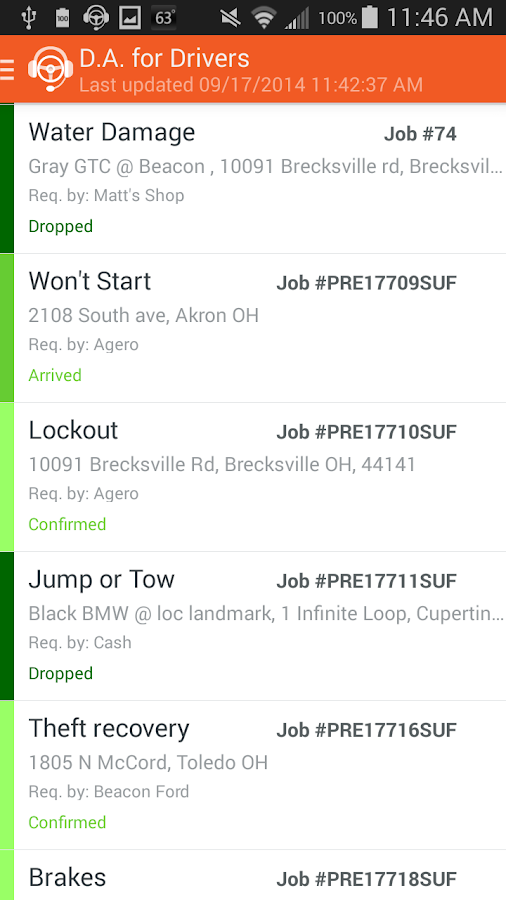 Dispatch Anywhere for Drivers- screenshot