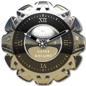SILVER KNIGHT clock widget