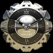 Silver Knight Clock Widget