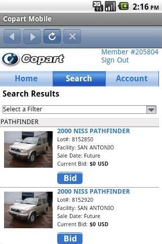 Copart Mobile - screenshot