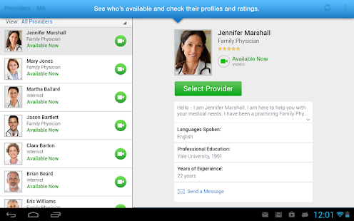 LiveHealth Online Mobile screenshot for Android