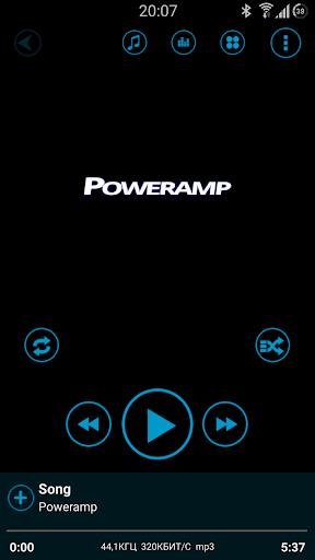 Poweramp Blue Style