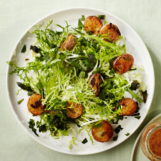 Mixed Herb and Frisée Salad with Roasted Potatoes