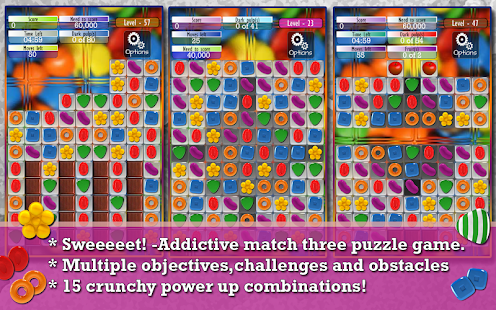 Candy Game -Match three puzzle- screenshot thumbnail