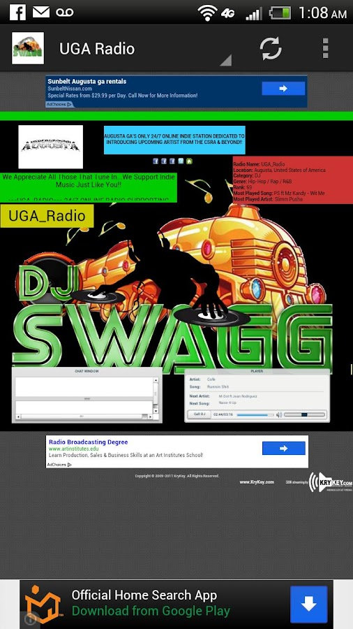 DJ Swagg706 Mobile - screenshot
